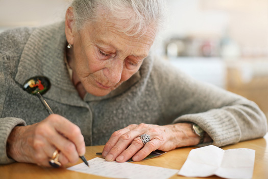 Writing For Seniors in Burlington