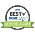 Best of home care provider of choice 2015 digital seal